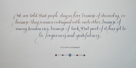 Adult/Teen Class: Make It, Take It: Friendship Poem Calligraphy  tickets