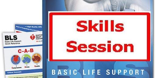 AHA BLS Skills Session December 9, 2019 4 PM to 6 PM at Saving American Hearts, Inc. 6165 Lehman Drive Suite 202 Colorado Springs, Colorado 80918.