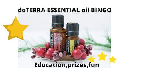 doTERRA Essential oil Bingo CHRISTMAS event