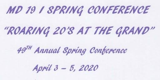MD 19 I Spring Conference