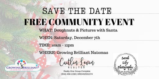 Doughnuts & Pictures with Santa
