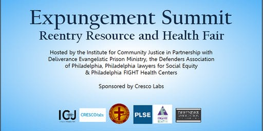 Expungement Summit  Reentry Resource & Health Fair
