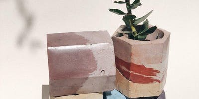 Concrete Workshop with Krizia Flores of Concrete Geometric