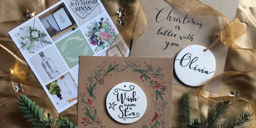 Christmas Crafts with Modern Calligraphy - Card with Ceramic Keepsake