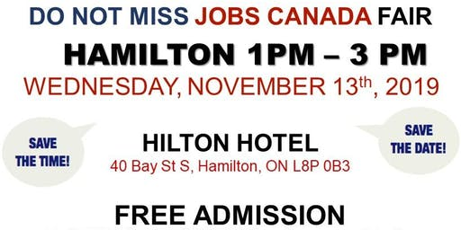 Hamilton Job Fair –  November 13th, 2019