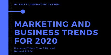 Marketing and Business Trends for 2020 tickets