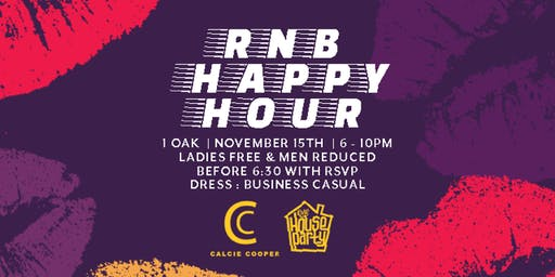 RNB Happy Hour | 1OAK | Friday, November 15th | 6PM