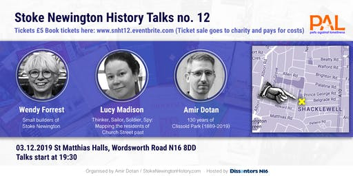 Stoke Newington History Talks no. 12: 130 years of Clissold Park, Local Builders and Layers of London project