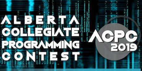 Alberta Collegiate Programming Contest 2019 tickets