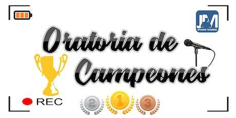 Oratoria de Campeones. entradas