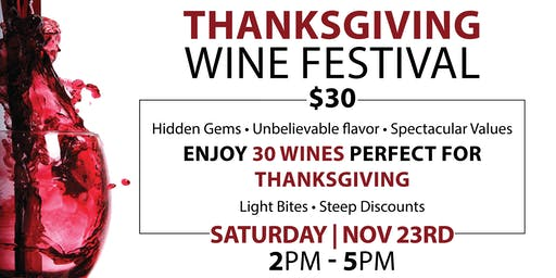 Thankgiving Wine Festival