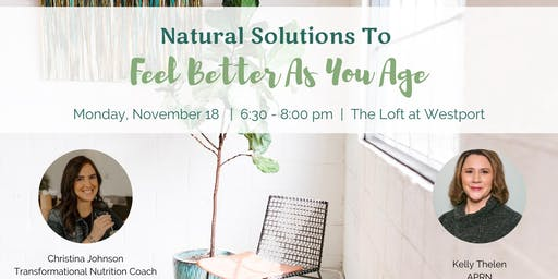 Natural Solutions to Feel Better As You Age