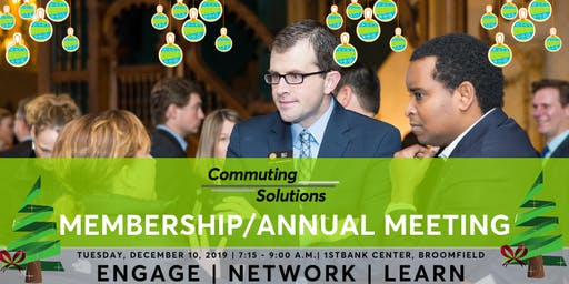 Commuting Solutions December Membership/Annual Meeting