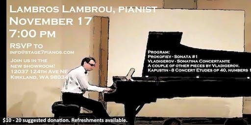 Lambros Lambrou, Pianist