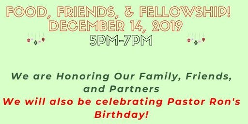 Food, Friends, & Fellowship: Sowing Seeds of Joy End of Year Celebration!