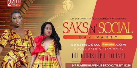 Saks N' Social tickets