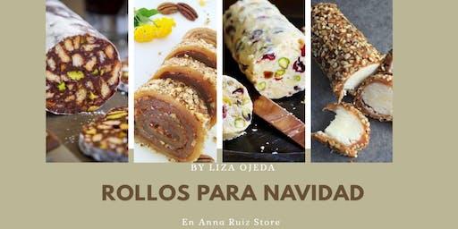 Rollos para Navidad con la Chef Liza Ojeda en Anna Ruíz Store