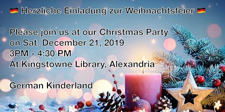 German Kinderland's Christmas Party 'Weihnachtsfeier' (RSVP) tickets