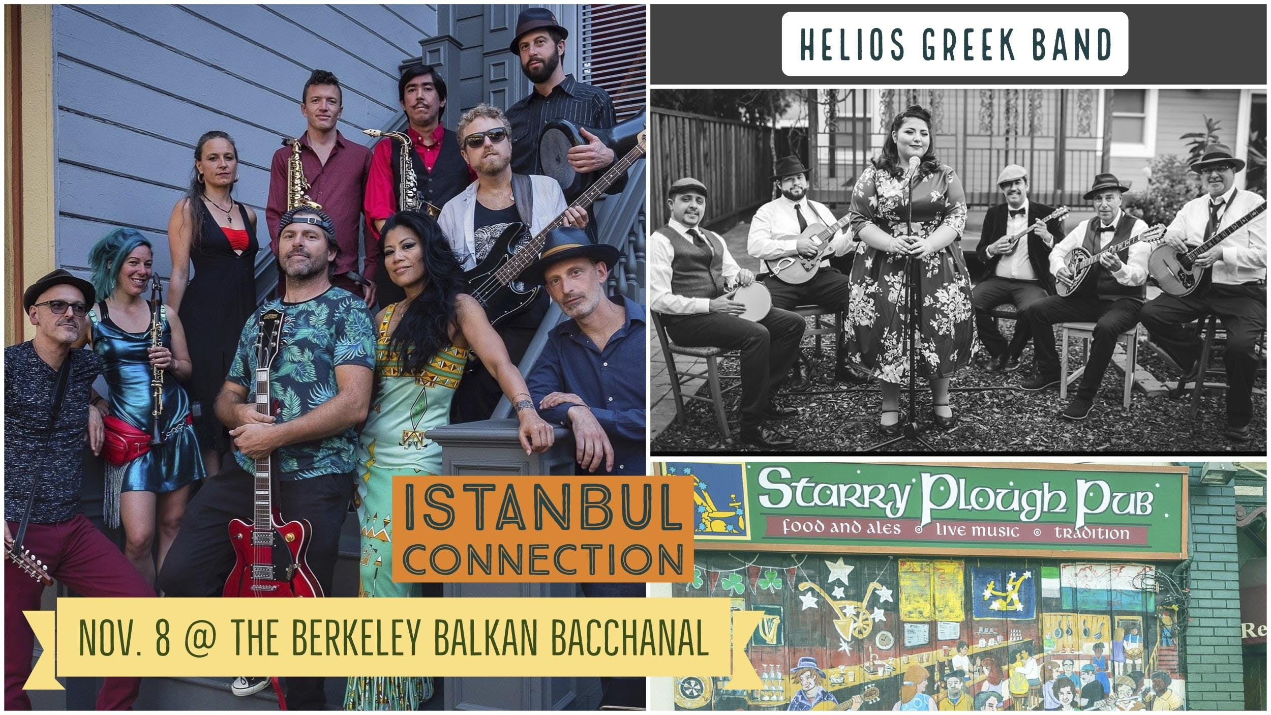 Berkeley Balkan Bacchanal with Istanbul Connection and Helios