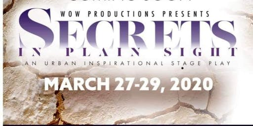 STAGE PLAY AUDITIONS - SECRETS IN THE PLAIN SIGHT