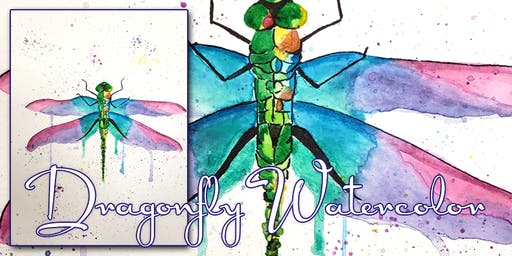 Dragonfly Watercolor Paint Night