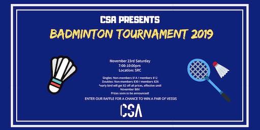CSA Badminton Tournament