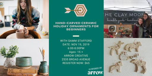 Hand-Carved Ceramic Holiday Ornaments for Beginners