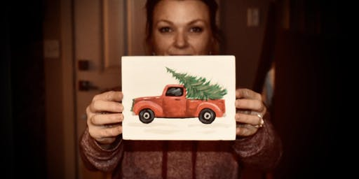 Little Vintage Christmas Truck - paint lesson