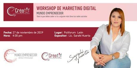MUNDO EMPRENDEDOR Workshop de Marketing Digital entradas