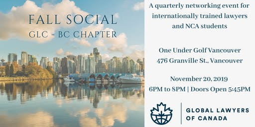 Global Lawyers of Canada - Fall Social