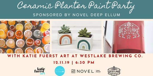 SOLD OUT: Ceramic Planter Paint Party