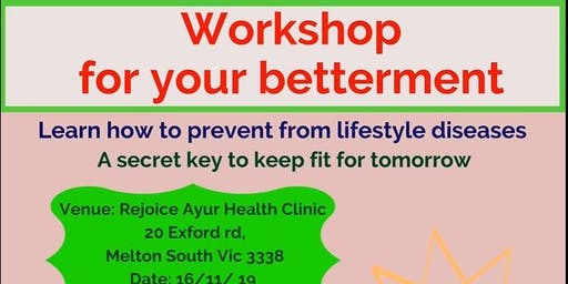 WORKSHOP TO PREVENT  LIFESTYLE DISEASES