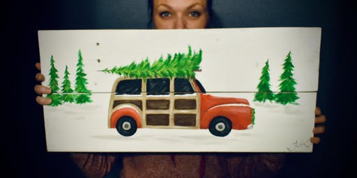 Woody Wagon on Wood paint lesson