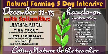 Natural Farming 5 day Intensive tickets
