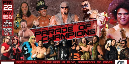 """UCW """"PARADE OF CHAMPIONS"""" PRO WRESTLING - FITE TV Pay Per View Taping"""