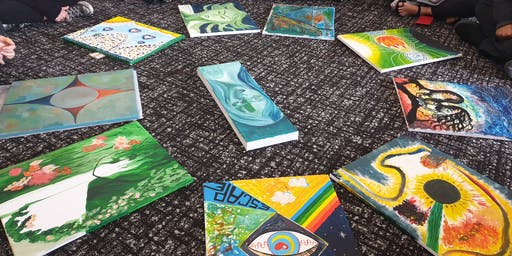 Catharsis release through art therapy the 3rd of December Govinda valley retreat