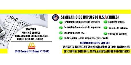 SEMINARIO DE TAXES U.S.A (UIS IMMIGRATION SERVICES) tickets