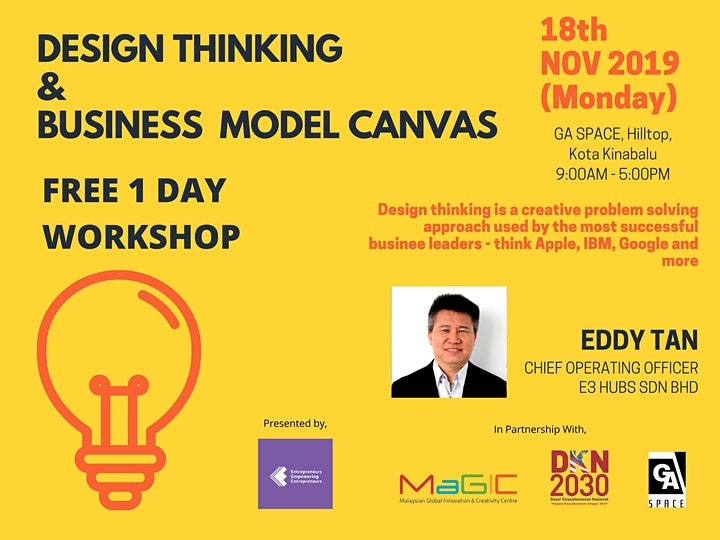 Design Thinking And Business Model Canvas Workshop image
