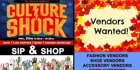 Culture Shock - Sip N Shop DAY Party / nov 23rd tickets
