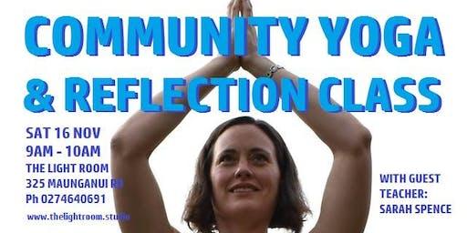 Community Yoga & Reflection Class with Sarah Spence - Sat16Nov