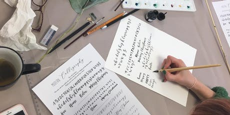 Christmas Crafts with Modern Calligraphy- Place Cards and Gift Tags tickets