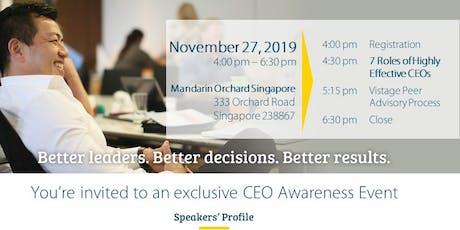Experience The Power of CEO Peer Advisory Group on 27 November 2019 tickets