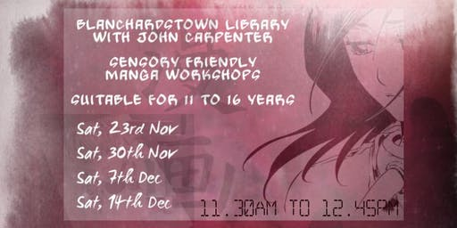 Manga Workshops - Sensory Sessions with John Carpenter