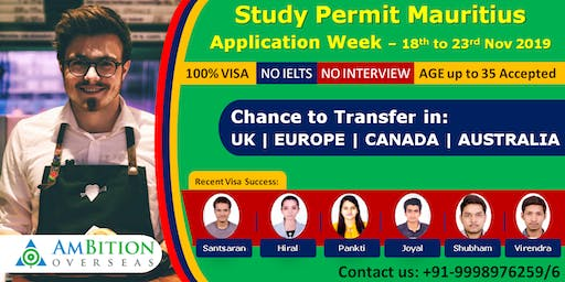 Study in Mauritius Application Week