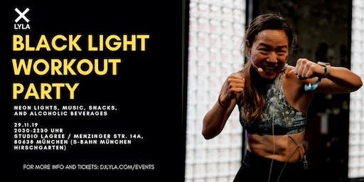 LYLA Black Light Workout Party with Agnes