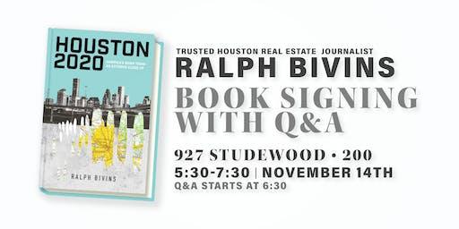 Houston 2020: Book Signing & Talk with Award-Winning Writer Ralph Bivins