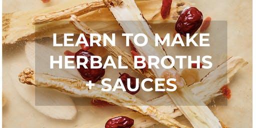 Herbal Broths + Sauces Workshop