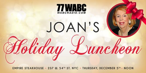 TALKRADIO 77 WABC  Joan Hamburg's Holiday Event