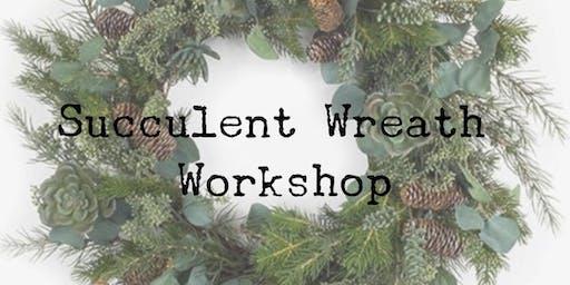 Winter Wreath Succulent Workshop