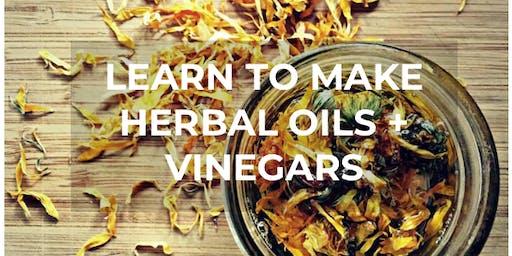 Herbal Oils + Vinegars Workshop